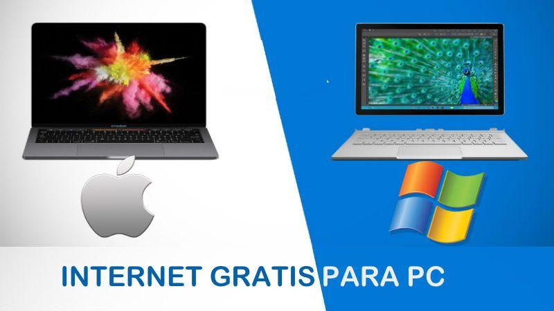 como tener internet gratis pc windows mac os ilimitado sin wifi computadora laptop macbook pro
