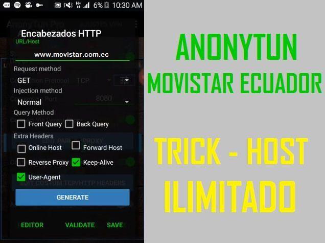 como configurar internet gratis movistar ecuador sin saldo