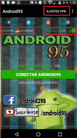 configuracion android95 android apk