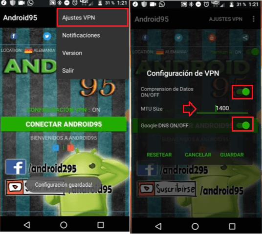 configuracion entel android95 apk vpn