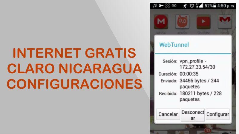 configuracones webtunnel claro nicaragua internet gratis android