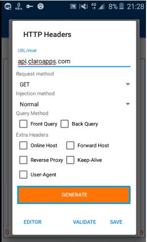 configurar anonytun claro paraguay