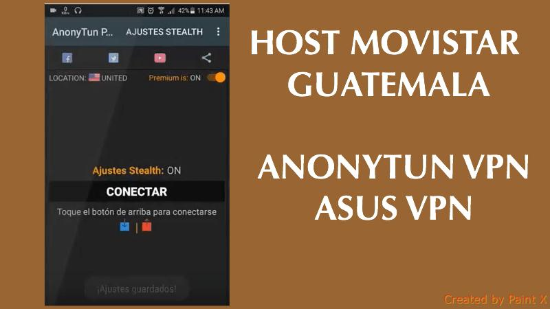 configurar anonytun movistar guatemala 2019 android trick host
