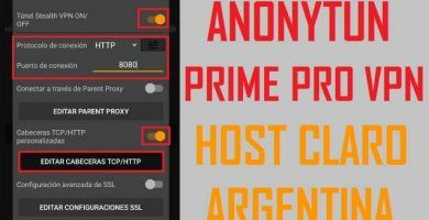 configurar anonytun prime pro apk claro argentina host