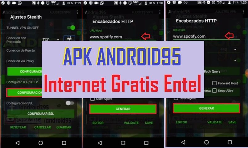 descargar android95 apk vpn configurar internet gratis