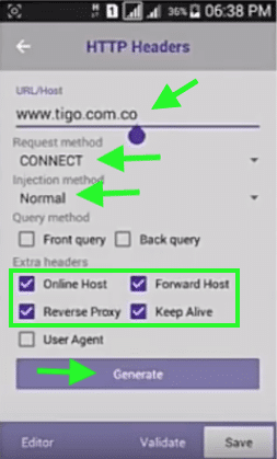 host trick droidvpn tigo colombia netfree full