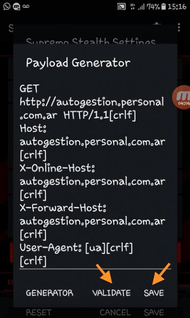 internet gratis personal argentina configuracion supremo vpn