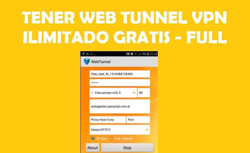 reiniciar webtunnel ilimitado vip free premium
