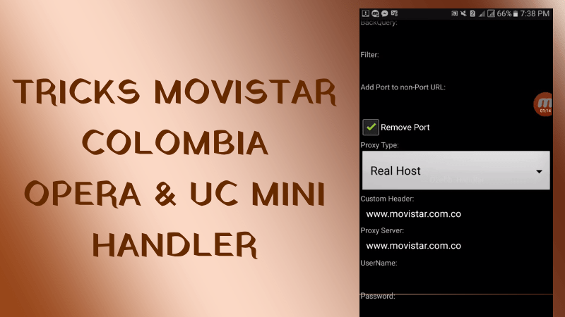trick movistar colombia opera mini uc handler