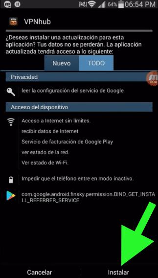 vpnhub apk vip pro gratis android