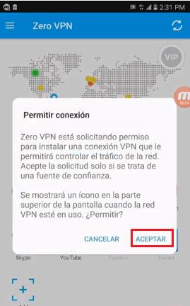 zero vpn internet avantel gratis colombia android