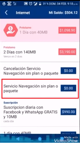 bug falla error de tigo shop apk netfree