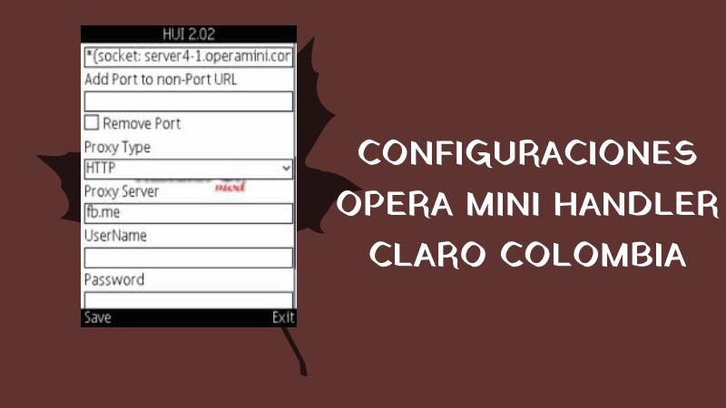 configuraciones opera mini handler claro colombia internet gratis trick