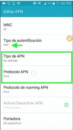 configuraciones trick apn 201 android internet gratis