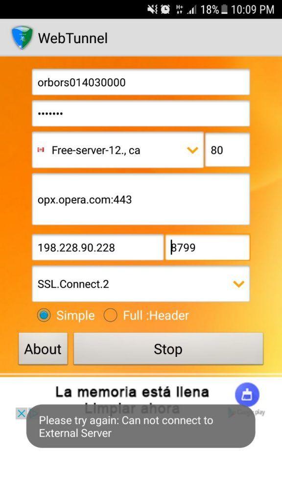 configuraciones web tunnel vpn gratis para android