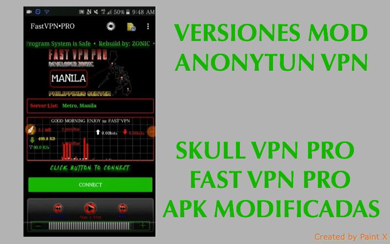 🥇 Skull vpn pro v3 3 & Fast VPN pro: APKs Mods de Anonytun