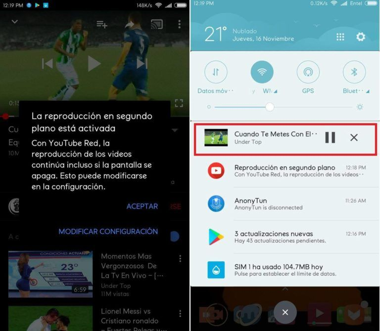 descargar youtube red apk mod gratis android