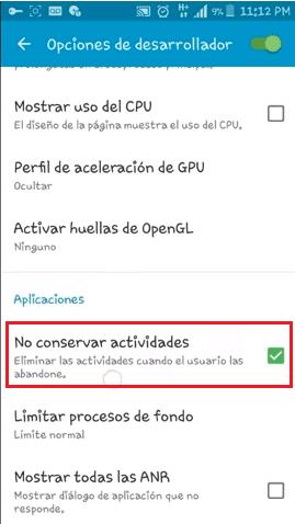 no conservar actividades android conectar perfil wap telcel