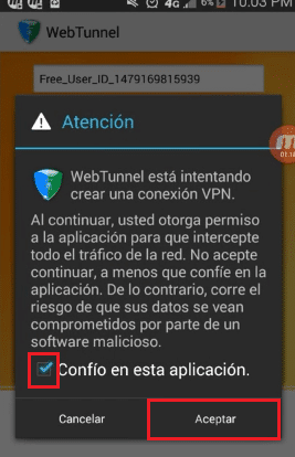 webtunnel movistar ecuador android