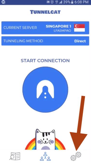 como conectar tunnelcat vpn