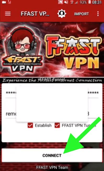 configurar FFAST VPN Tunnel conectar apk
