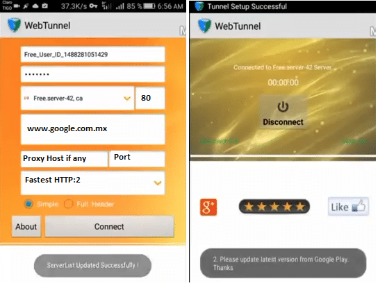 internet gratis web tunnel weex