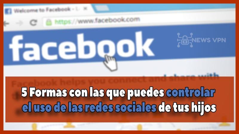 controlar el uso de las redes sociales de tus hijos